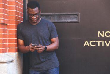 black man browsing