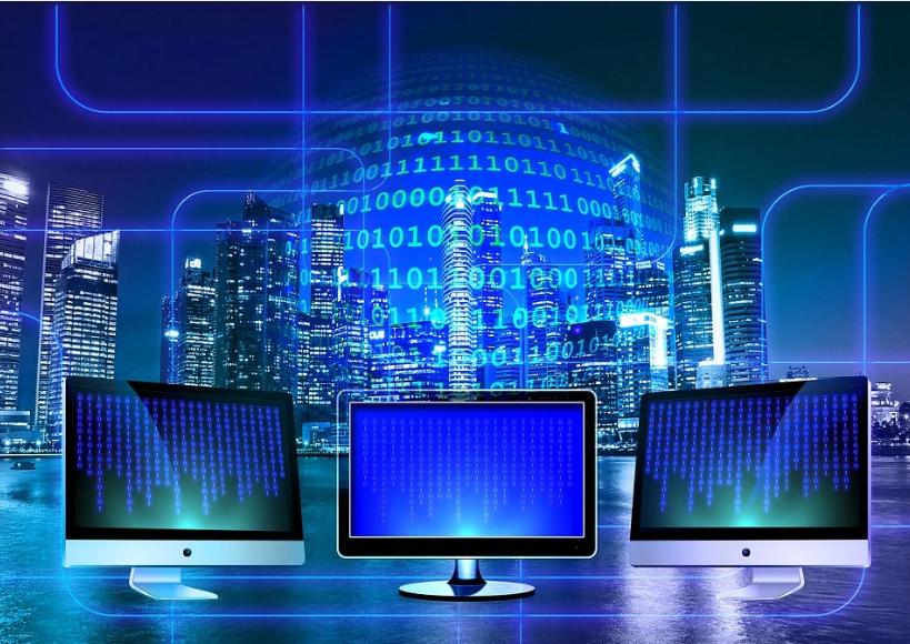 computer binary code monitor
